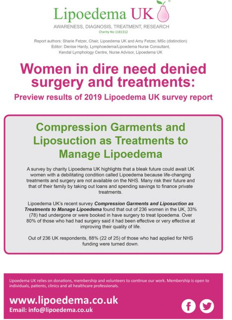 Compression Garments and Liposuction as Treatments to Manage Lipoedema